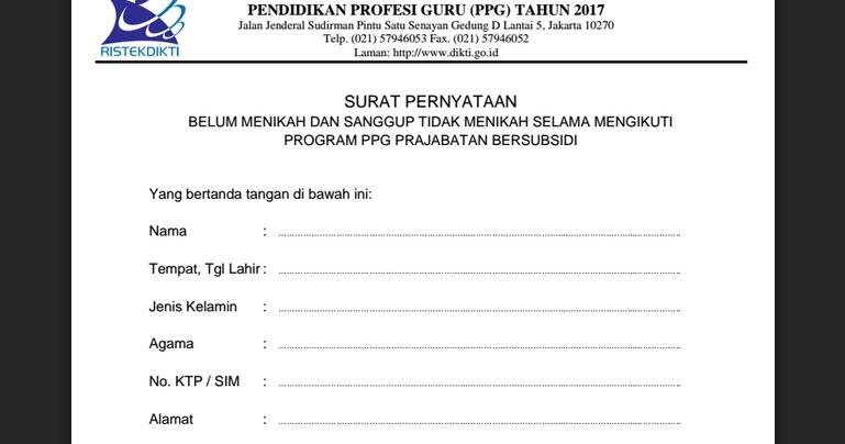Contoh Surat Pernyataan Belum Menikah Dan Tidak Akan Menikah