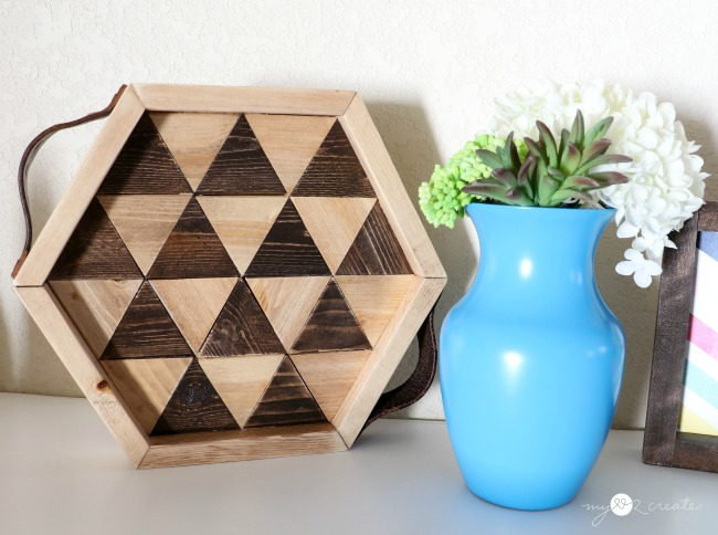 Decorative geometric triangle hexagon tray