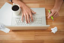 scholarship application using a laptop