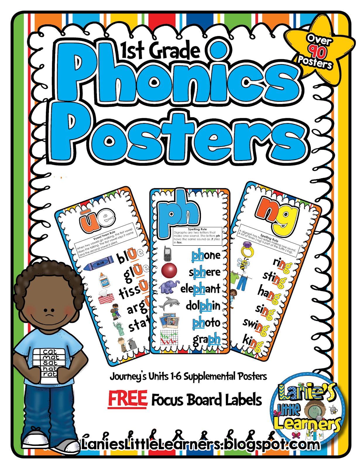Lanie's Little Learners: 1st Grade Phonics Posters {Journey's 1st