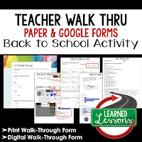 Classroom Walk Through Print and Google Form Teacher PD Series, Teacher Observation, Teacher Planning, Professional Development
