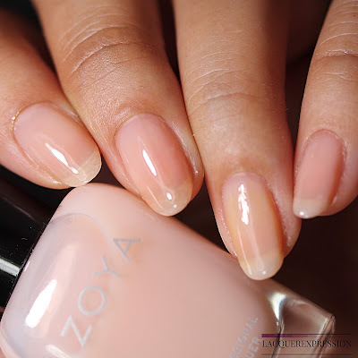 Nail polish swatches and review of Loretta from the Zoya Bridal Bliss collection