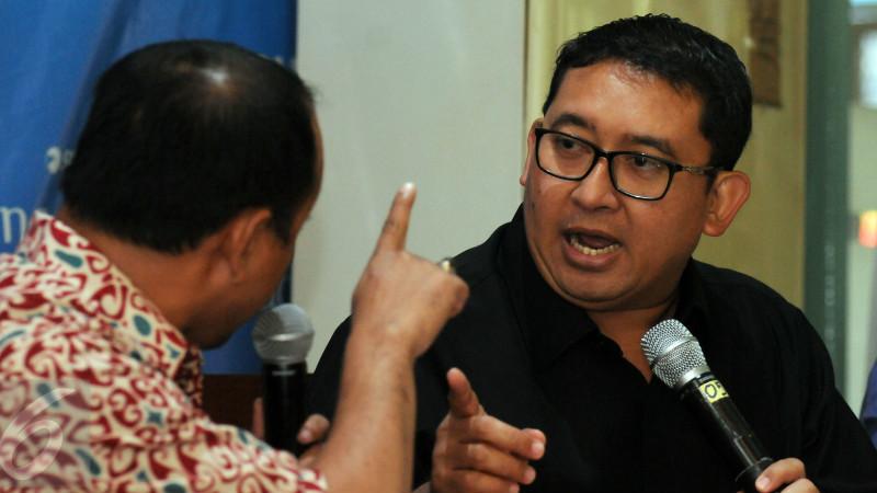 Wakil Ketua DPR RI, Fadli Zon saat berdebat