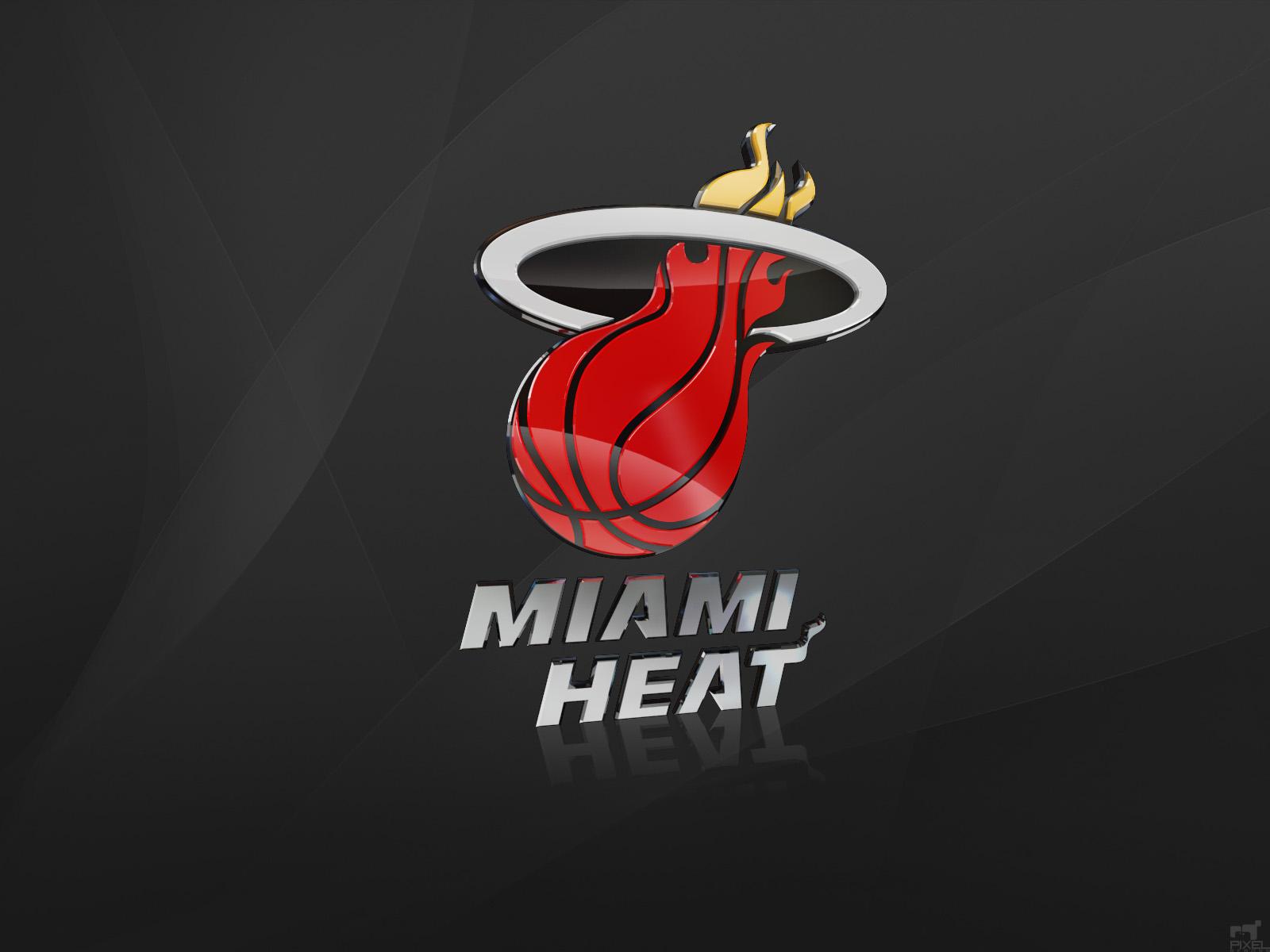 Nba Basketball Miami Heat Bedroom In: WALLPAPER: MIAMI HEAT NBA CLUB LOGO