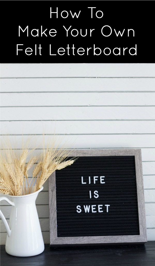 How to make a felt letterboard