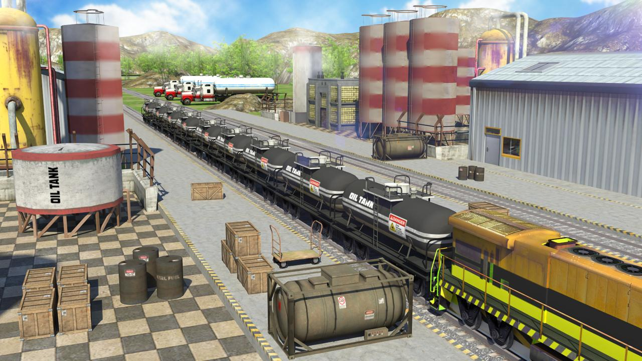 Oil Tanker Train Simulator MOD APK terbaru