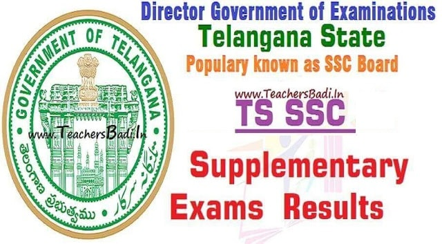 TS SSC Supplementary Exams 2018 Results,ssc results,10th class results