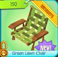 Animal Jam iSeaCupcake  : Funny Green Lawn Chair!