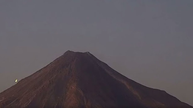 Here's the UFO on the side of the volcano in Mexico.