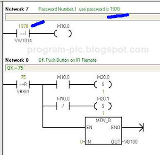Password Setting on PLC Ladder Programming for IR Remote Control