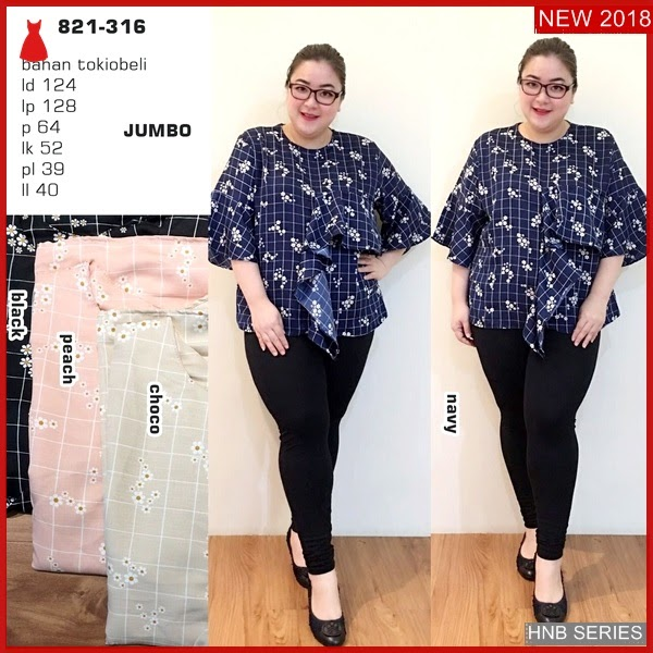 HNB278 Model Hani Blouse Layer Ukuran Besar Jumbo BMG Shop