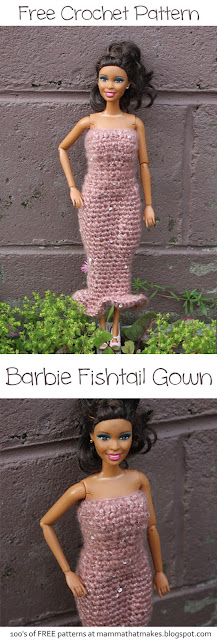 Barbie Dress - Full Length Fishtail Gown