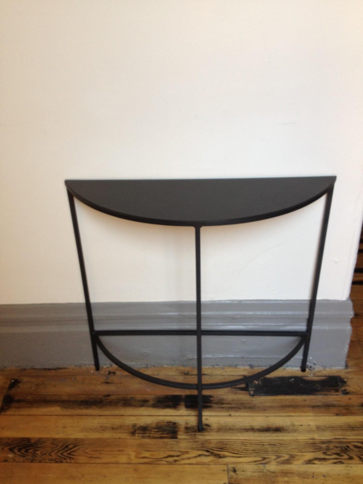 tag sale room and board demi lune table 100. Black Bedroom Furniture Sets. Home Design Ideas