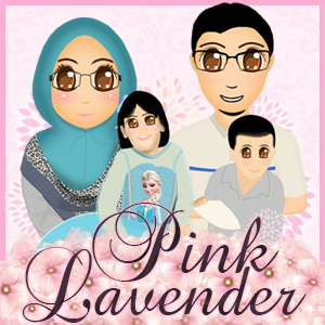 Banner Blog Pink Lavender, edit blog murah, design blog murah
