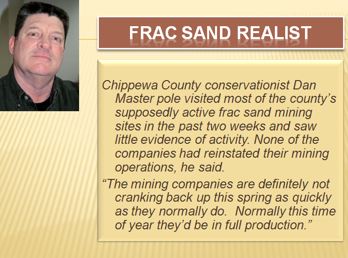 Retiring Guy's Digest: That was then, this is now: Frac sand