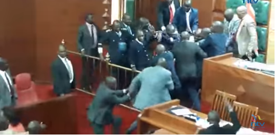 OMG! See How Lawmaker was Beaten and Robbed Inside House of Assembly (Watch Video)