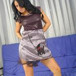 Andrea Rincon, Selena Spice Galeria 15: Vestido Cafe, Falda a Cuadros Foto 45