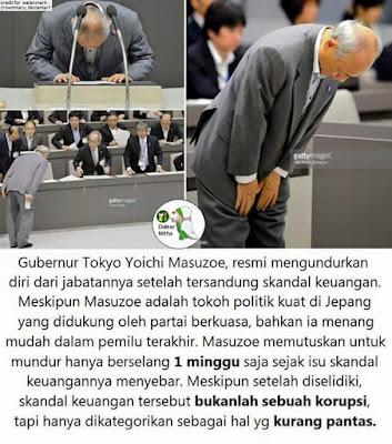 gubernur tokyo mengundurkan diri