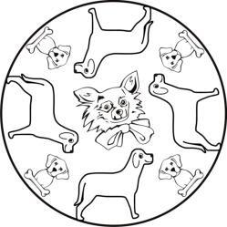 malvorlagen zum ausmalen: malvorlagen hunde: mandalas