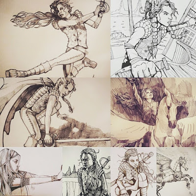 Lian Webcomic, early character sketches