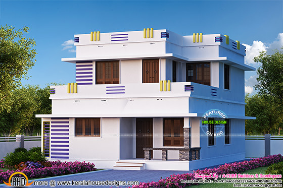 1592 sq-ft flat roof home with 3 bedrooms