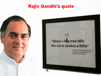 Rajiv Gandhi's comment on genocide and mass killing
