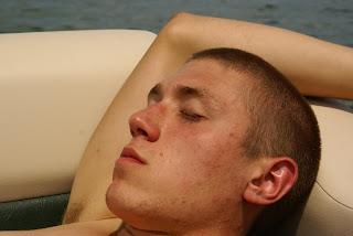 Austin relaxing and enjoying life