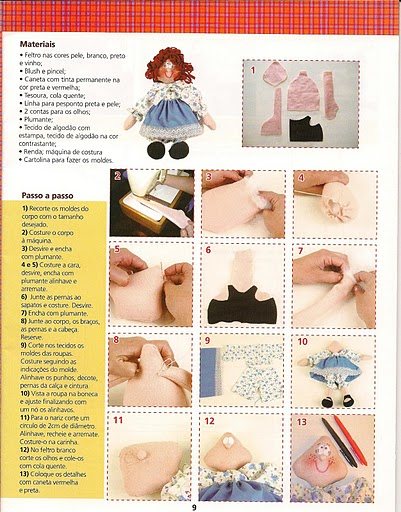 Revista+feltro+compartilhar+005 - molde boneca de feltro