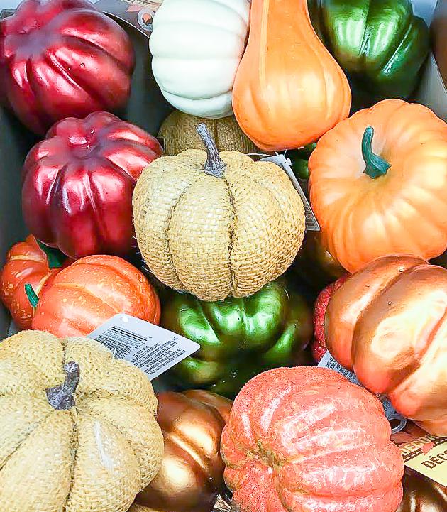 Dollar Tree plastic pumpkins