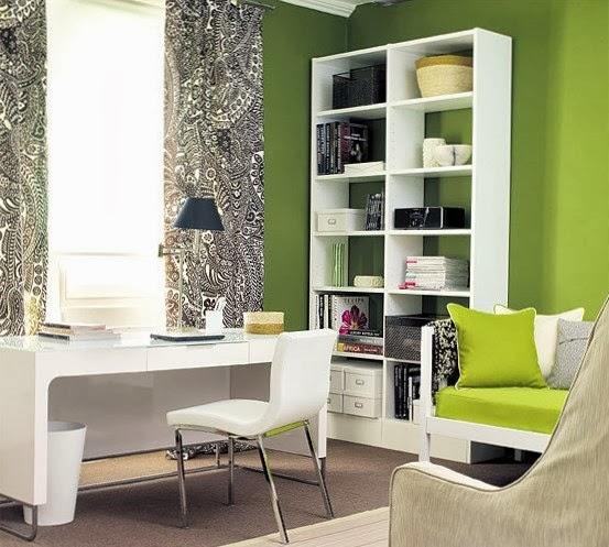 oficina color verde