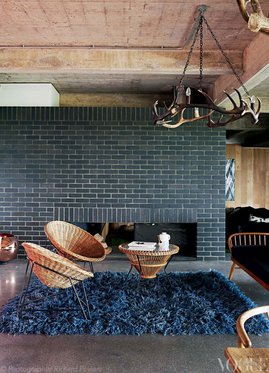 Charcoal grey fireplace