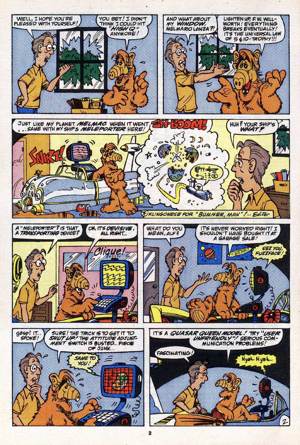 Read online ALF comic -  Issue #23 - 3