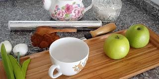 ev yapımı elmalı türk kahvesi, elmada kahve hazırlama, KahveKafeNet