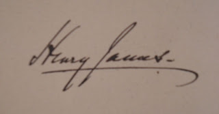 The signature of Henry James.