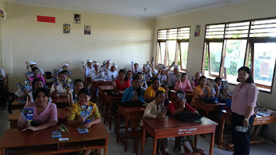 Kunjungan SMK TI Bali Global Denpasar ke SMP Sila Dharma Denpasar