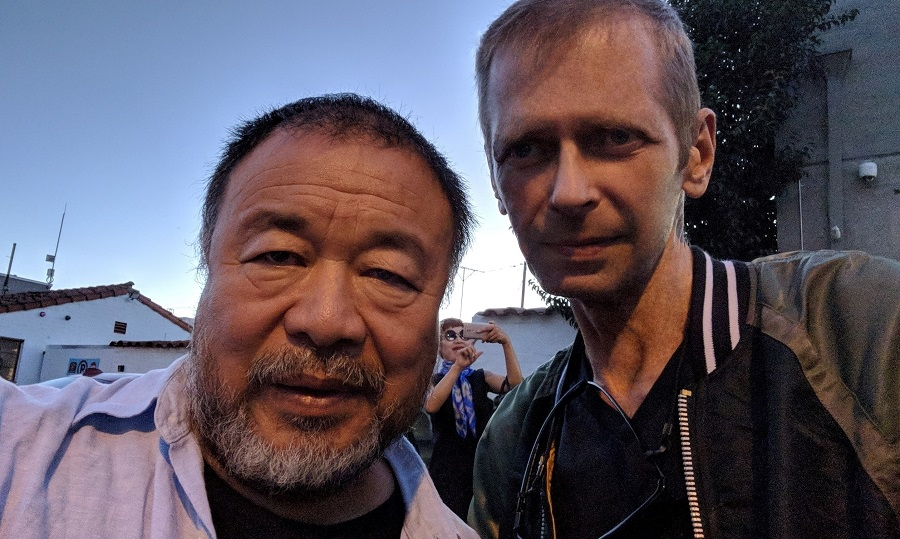 Klaus Guingand and Ai Weiwei meet