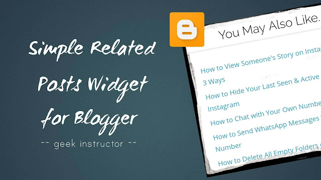 Add simple related posts widget in Blogger