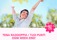 Logo Raddoppia i punti ogni weekend, richiedi i premi e vinci un anno di Tena Pants