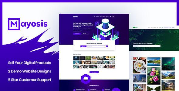 Mayosis v2.1.2 – Digital Marketplace WordPress Theme