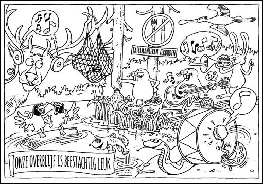 Kleurplaat Placemat Kerst Voorleesvriendjes