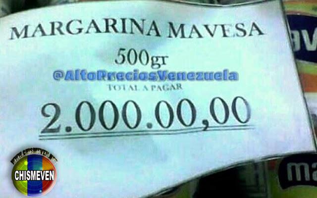 Nuevo Récord : La Margarina Mavesa ya llegó a  los 2 millones de bolívares
