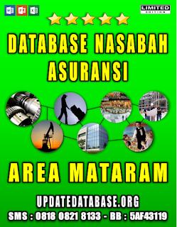 Jual Database Nasabah Asuransi Mataram