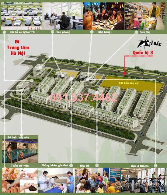 Khu thương mại dịch vụ và nhà ở Happy Land 1/5 Đông Anh dự án đất liền kề