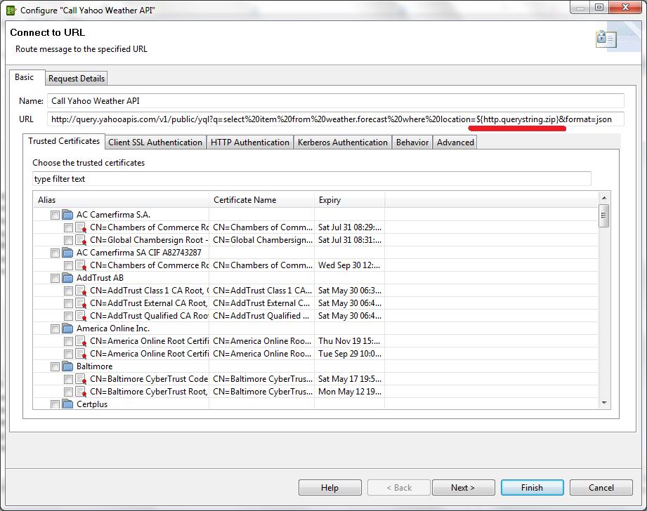 Orchestration of a JSON API with a SOAP Web Service w/API Server