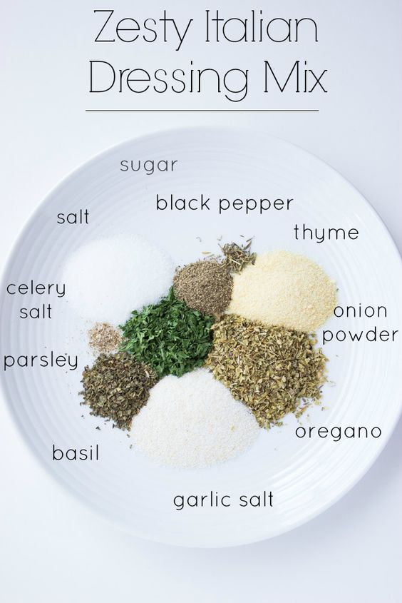 HOMEMADE ZESTY ITALIAN DRESSING MIX