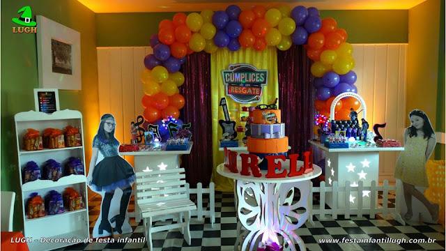 Decoração festa infantil Cúmplices de um Resgate - Aniversário feminino - Provençal simples