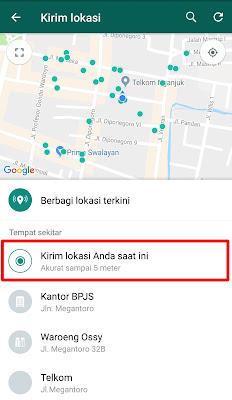 Cara Berbagi Lokasi Anda Di Whatsapp Kepada Teman