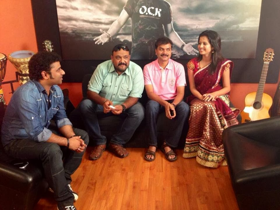 Devi Sri Prasad with Director Siva , Lyricist Viveka , VJ Anjana Rangan