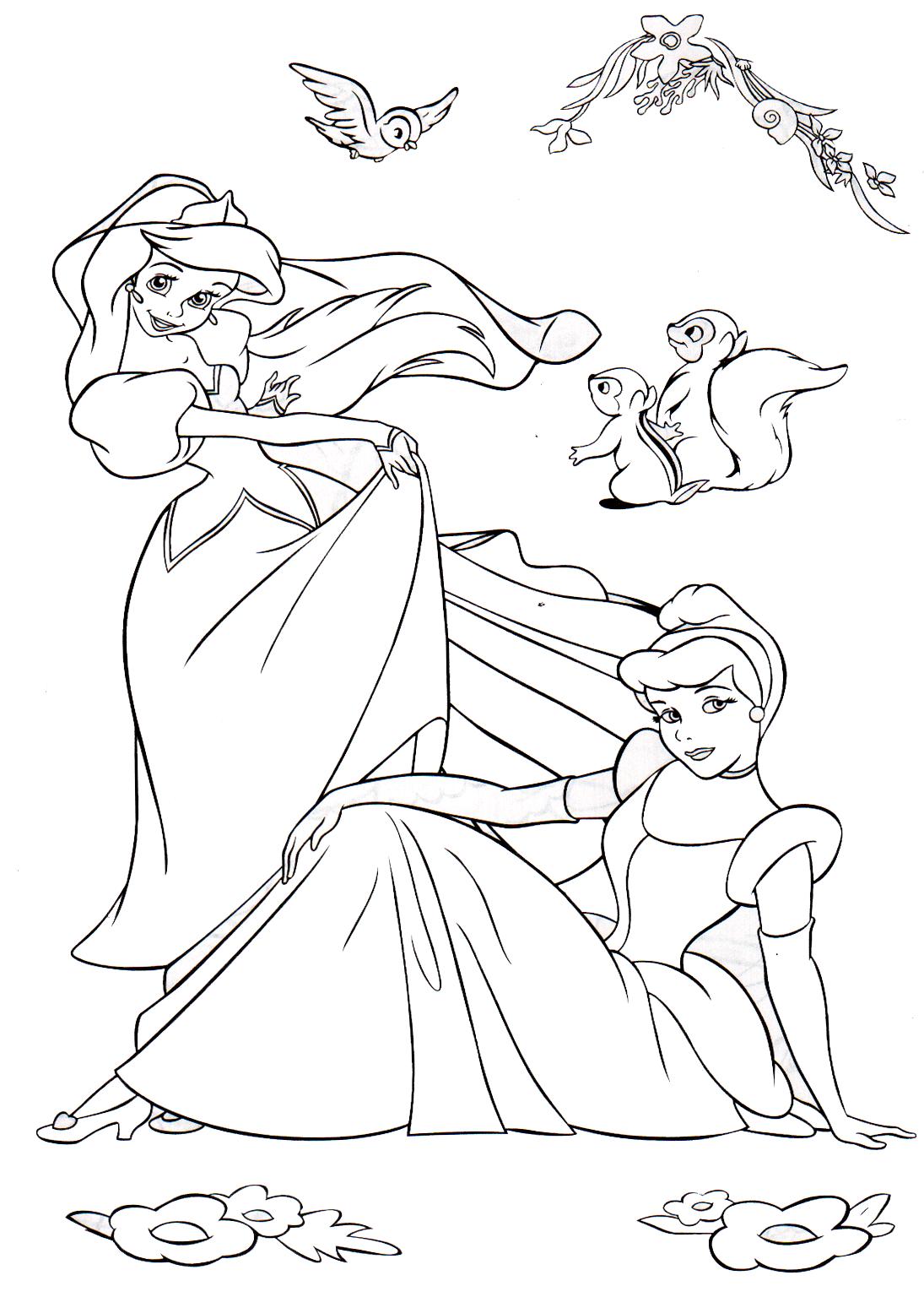 Dibujos Para Colorear Princesa Bebe Disney Paginas Para Colorear