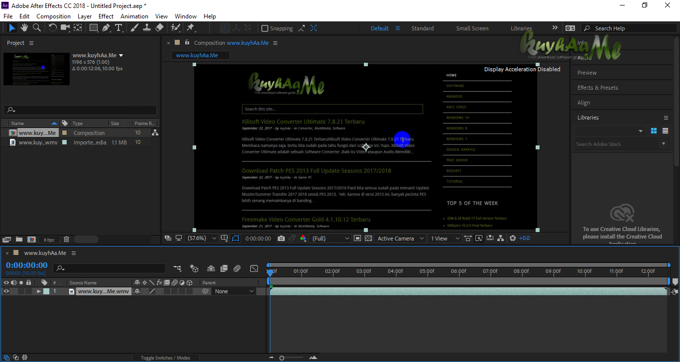 Adobe After Effects CC kuyhaa
